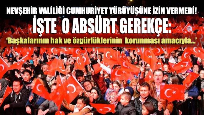 29 Ekim kutlaması kapsamında Cumhuriyet yürüyüşüne kamu düzenini bozar gerekçesiyle izin verilmedi!