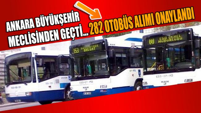 ABB Meclisi 282 otobüs alımı için onay verdi