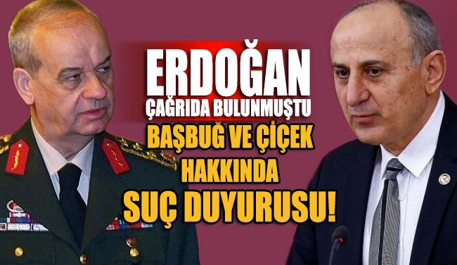 AK Parti milletvekillerinden İlker Başbuğ için suç duyurusu