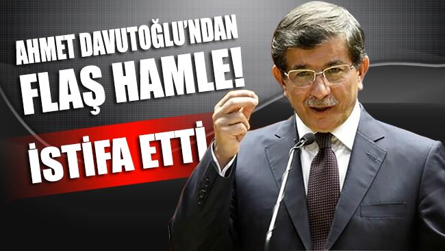 AKP Bölünüyor: Ahmet Davutoğlu AKP'den istifa etti!