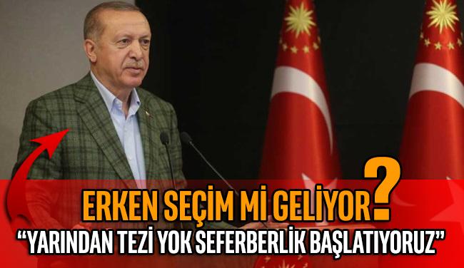 """AKP'li Cumhurbaşkanı Erdoğan: """"Yarından tezi yok, yeni bir gönül seferberliği başlatıyoruz"""