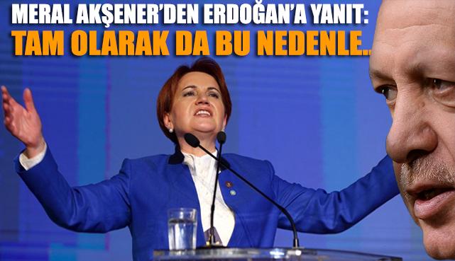 Akşener'den Erdoğan'a yanıt: Tam olarak da bu nedenle…