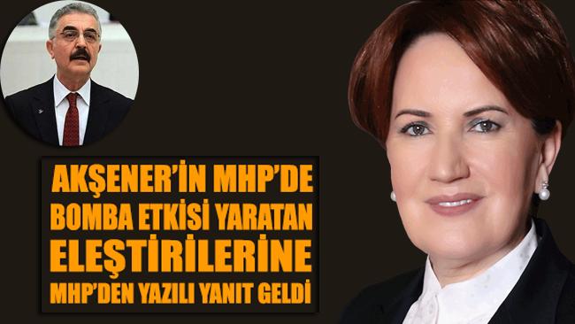 Akşener'in, MHP'de bomba etkisi yaratan grup toplantısı konuşmasına MHP'den yazılı yanıt geldi