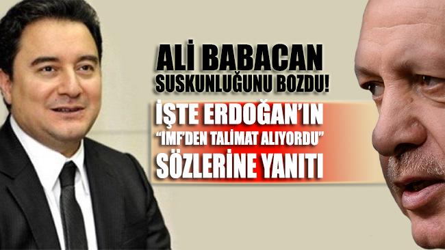 Ali Babacan'dan Erdoğan'a 'IMF' yanıtı