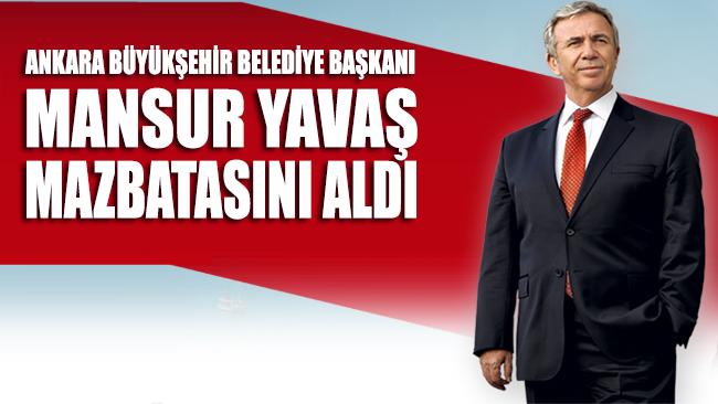 Ankara Büyükşehir Belediye Başkanı Mansur Yavaş mazbatasını aldı