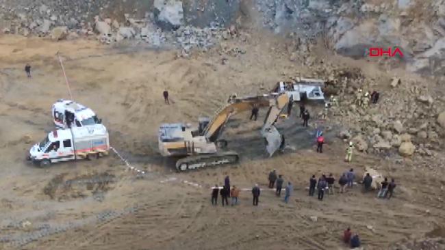 Arnavutköy'de taş ocağında göçük: 2 kişi hayatını kaybetti