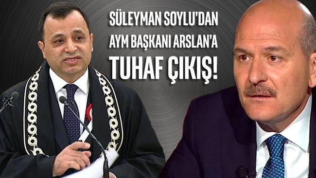 Bakan Soylu, bu kez AYM Başkanı Arslan'ı hedef aldı: Bisikletinle işe git gel!