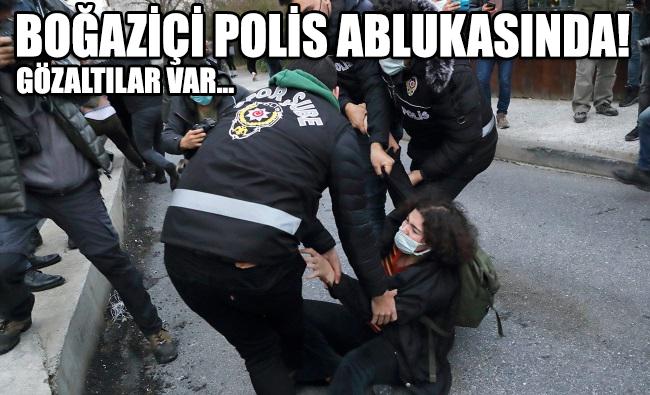 Boğaziçi polis ablukası altında: Gözaltılar var