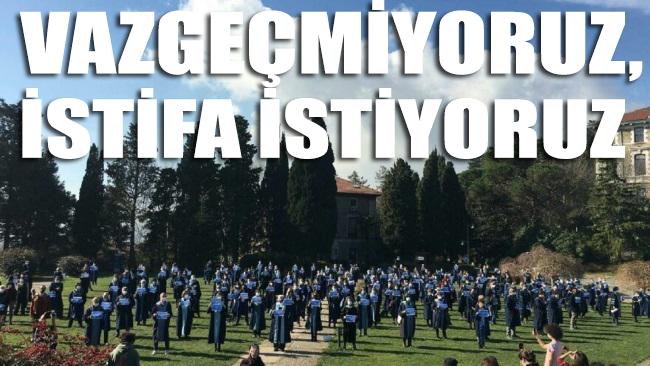 Boğaziçi'nde protestolar bugün de sürdü: Vazgeçmiyoruz, istifa istiyoruz