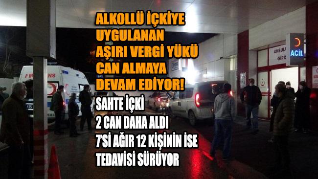 Bursa'da sahte alkol faciası: 2 ölü, 7'si ağır 12 kişinin ise tedavisi sürüyor