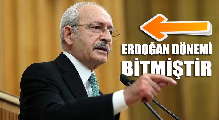 """CHP Lideri Kemal Kılıçdaroğlu: """"Erdoğan dönemi bitmiştir"""""""