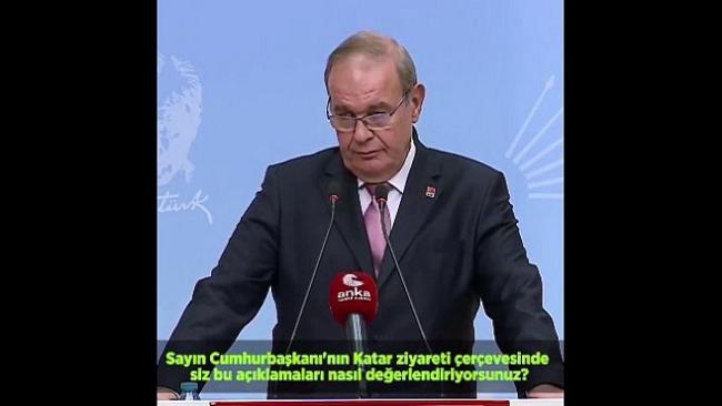 CHP'den Erdoğan'a 'eğilme' yanıtı