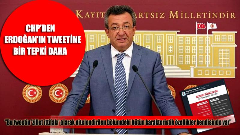 CHP'den Erdoğan'ın tweetine sert tepki!