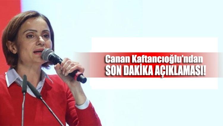 CHP'li Canan Kaftancıoğlu İstanbul'daki son durumu açıkladı!