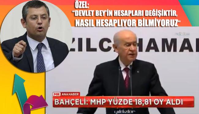 CHP'li Özgür Özel, Devlet Bahçeli'nin oy oranı hesaplamasını değerlendirdi