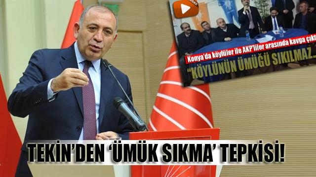 CHP'li Tekin'den 'ÜMÜK SIKMA' tepkisi