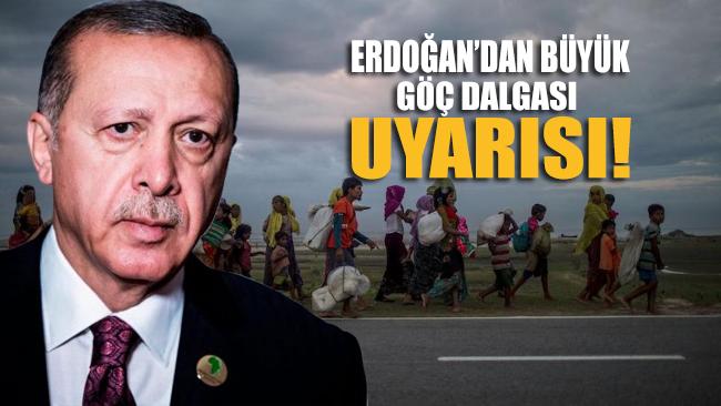 Cumhurbaşkanı Erdoğan: 80 binin üzerinde İdlibli göçe başladı