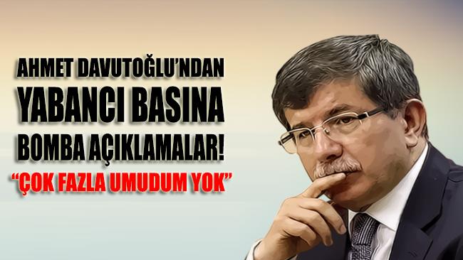 Davutoğlu, FT'ye açıklamalarda bulundu: AKP'de genel bir mutsuzluk var