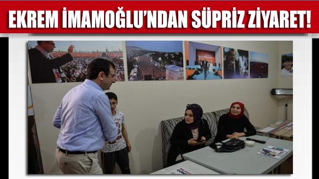 Ekrem İmamoğlu'ndan, Binali Yıldırım'ın seçim ofisine ziyaret