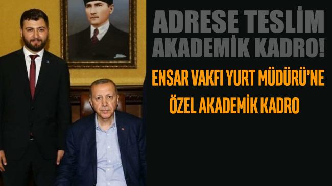 Ensar Vakfı Yurt Müdürü'ne özel akademik kadro