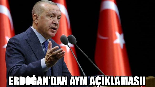 Erdoğan'dan Anayasa Mahkemesi açıklaması!