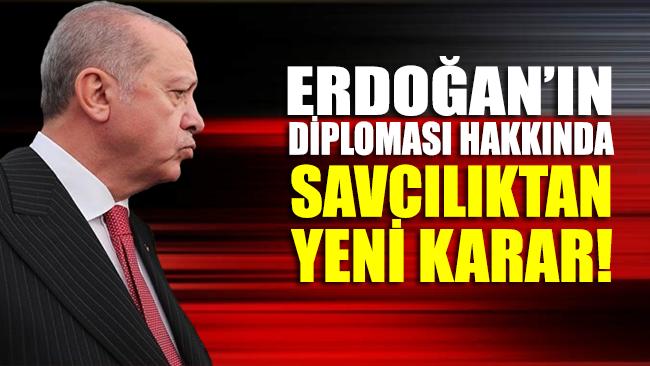 Erdoğan'ın diploması hakkında savcılıktan yeni karar