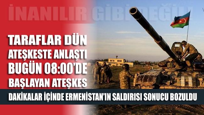Ermenistan ateşkesi ihlal etti: Terter'e saldırdılar