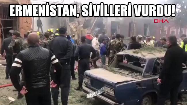 Ermenistan, Azerbaycan'daki sivil yerleşim yerlerini bombaladı