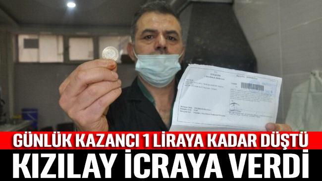 Esnaf kan ağlıyor: Kızılay günde 1 TL kazanan esnafı icraya verdi