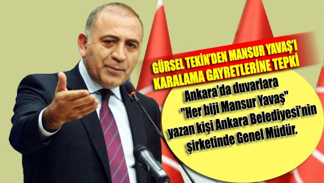 Gürsel Tekin: Bu kadar kirli, bu kadar alçakça bir siyaseti Türkiye görmedi