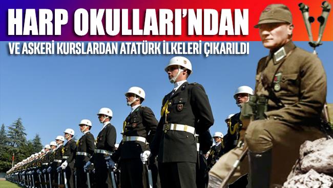 Harp Okulları'ndan ve askeri kurslardan Atatürk çıkarıldı
