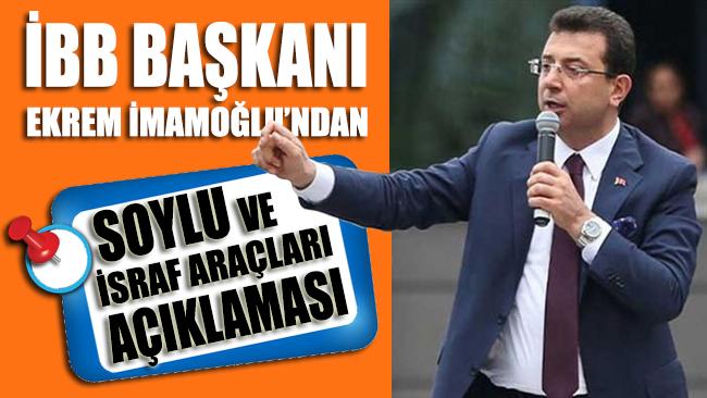 İBB Başkanı Ekrem İmamoğlu'ndan 'İSRAF SERGİSİ' ve Soylu açıklaması