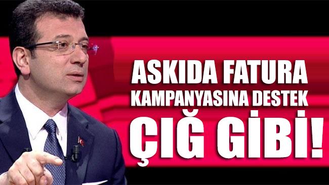 İBB Başkanı İmamoğlu'nun başlattığı askıda fatura kampanyasına müthiş ilgi!