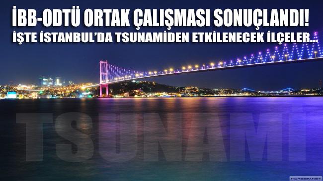 İBB ve ODTÜ ortak çalışması sonuçlandı! İşte İstanbul'da tsunami'den etkilenecek ilçeler