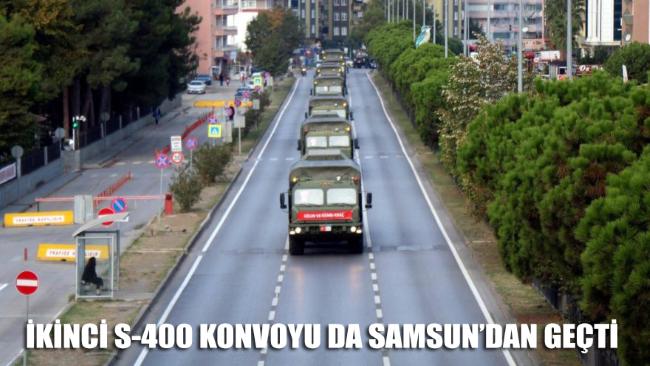 İkinci S-400 konvoyu da Samsun'dan geçti