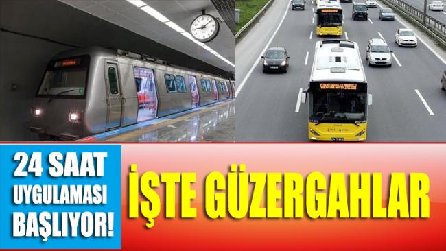 İmamoğlu açıkladı! İşte İstanbul'da 24 saat çalışacak hatlar