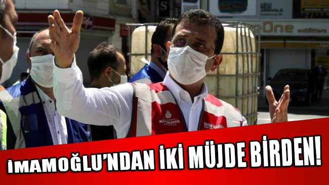 İmamoğlu'ndan İstanbullulara iki müjde birden