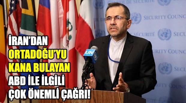İran: Dünya toplumu ABD kuvvetlerinin Ortadoğu'dan çıkmasını talep etmeli