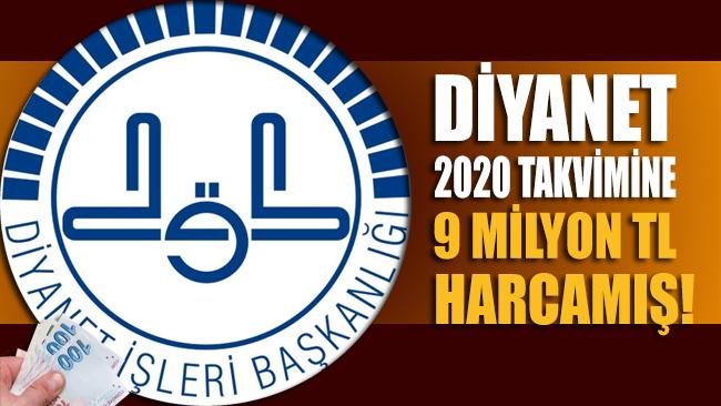 İsrafta sınır tanınmıyor: Diyanet 2020 takvimi için 9 milyon lira harcamış!