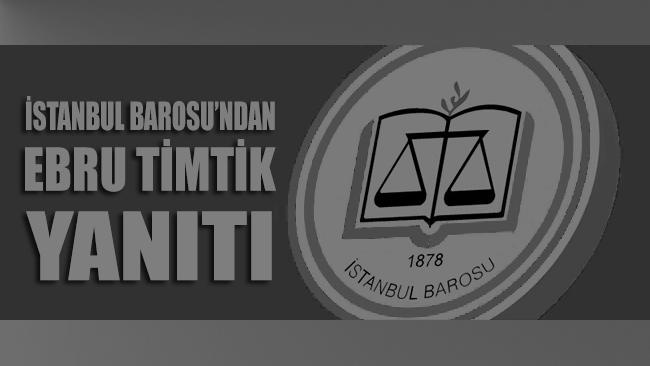 İstanbul Barosu'ndan 'Ebru Timtik' yanıtı