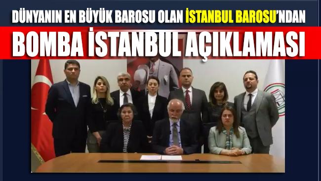 İstanbul Barosu'nun YSK kararına verdiği tepki kamuoyunda bomba etkisi yarattı