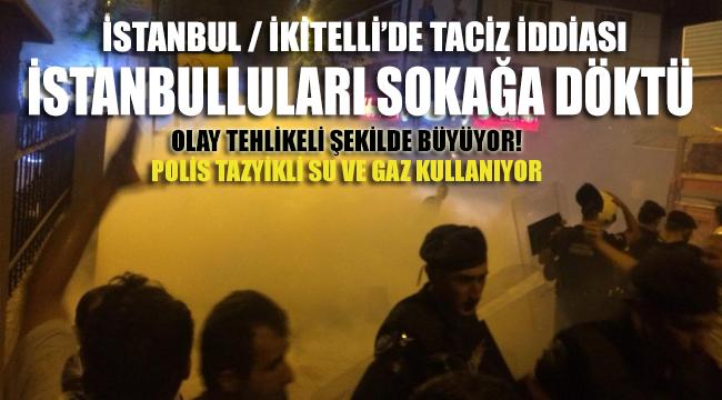 İstanbul, İkitelli'de taciz iddiası vatandaşı sokağa döktü