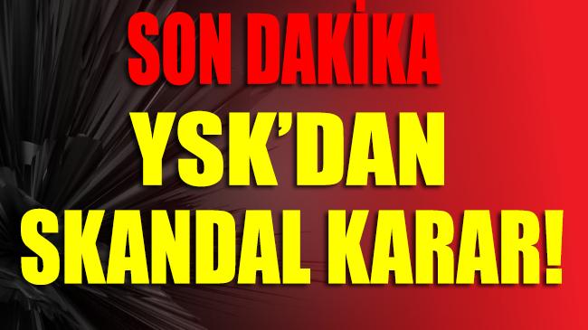İstanbul seçim sonuçları iptal edildi! YSK'dan SKANDAL karar…