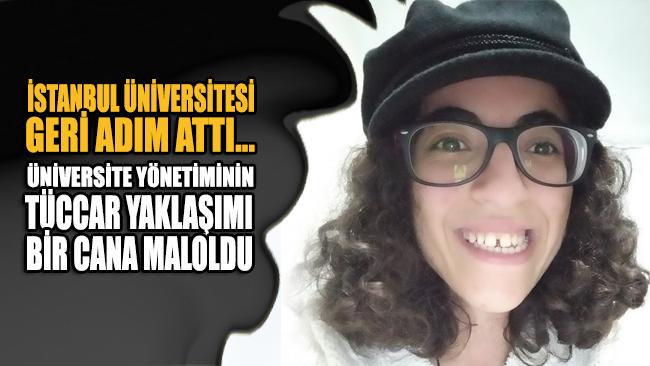 İstanbul Üniversitesinden geri adım!