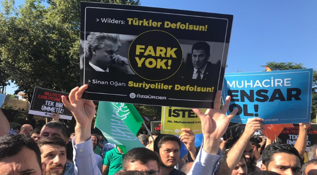 İstanbul'daki Suriyelilere destek eyleminde arbede çıktı