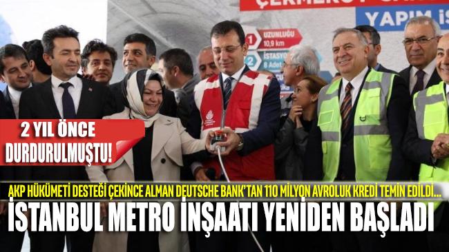 İstanbullulara müjde!... 2 yıl önce durdurulan metro hattı inşaatı yeniden başladı