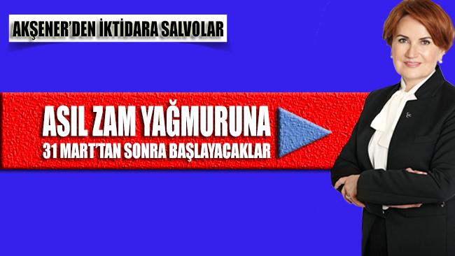 İYİ Parti Genel Başkanı Akşener'in hedefinde iktidar vardı