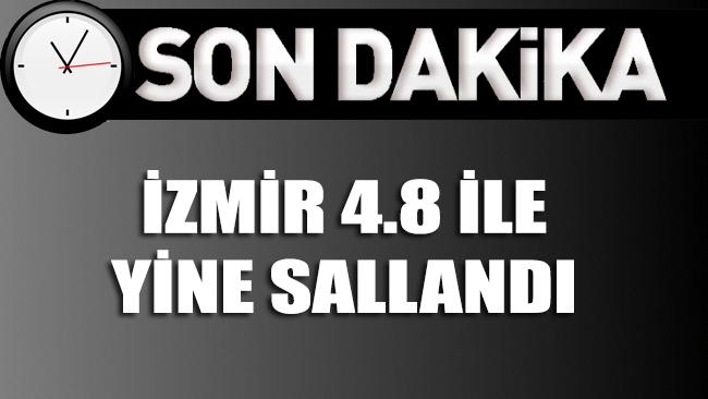 İzmir bu kez 4.8 büyüklüğünde deprem ile sarsıldı