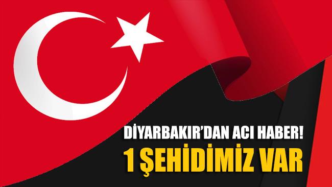 Jandarma duyurdu: Diyarbakır'da şehidimiz var