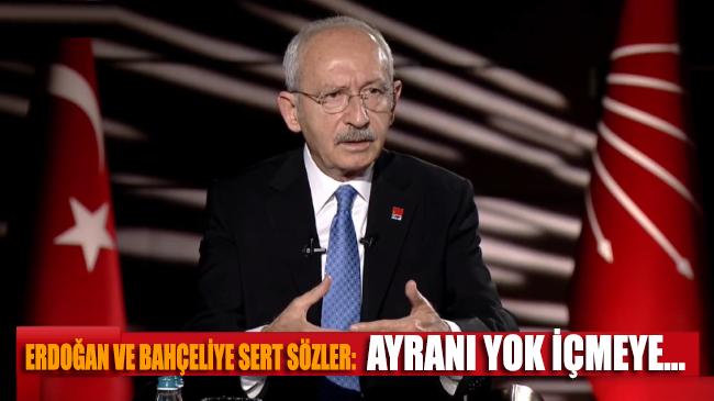 Kılıçdaroğlu, Erdoğan ve Bahçeli'ye sert sözlerle yüklendi